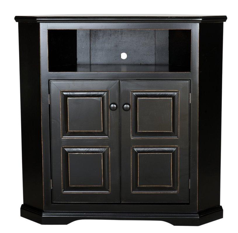 Corner Tv Stands You'll Love In Most Popular Black Wood Corner Tv Stands (Image 12 of 20)