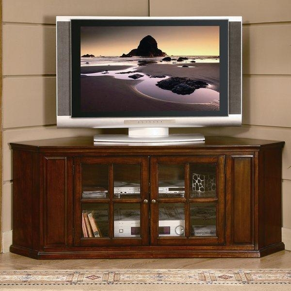 Corner Tv Stands You'll Love Intended For Most Recent Cream Corner Tv Stands (Image 6 of 20)