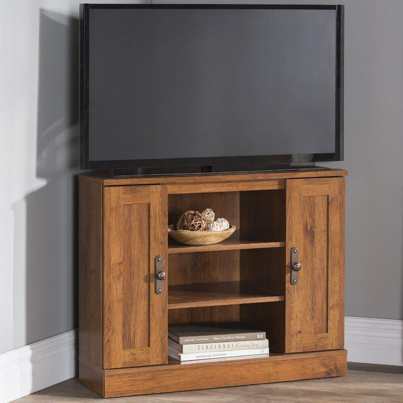 Corner Tv Stands You'll Love Pertaining To Latest Triangular Tv Stands (Image 12 of 20)