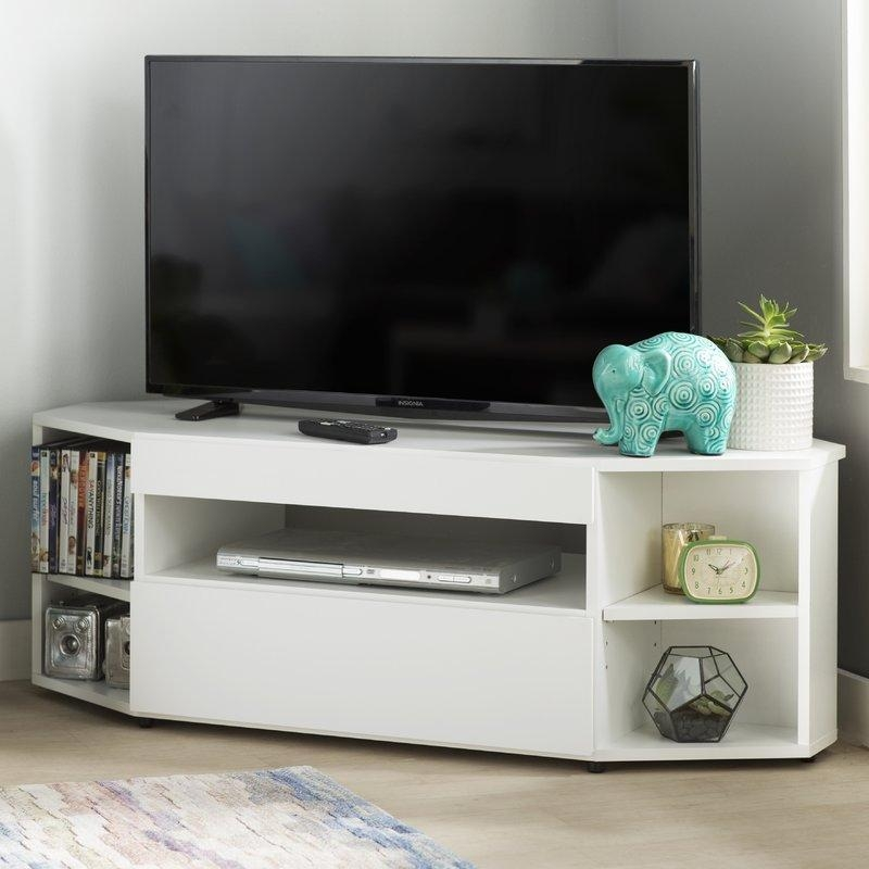 Corner Tv Stands You'll Love With Latest Triangular Tv Stand (View 7 of 20)