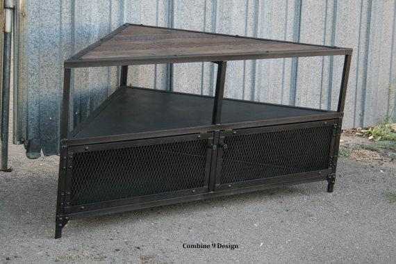 Featured Image of Industrial Corner Tv Stands
