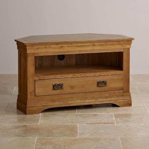 Corner & Widescreen Tv Cabinets | Oak Furniture Land Inside Latest Oak Corner Tv Stands (Image 5 of 20)