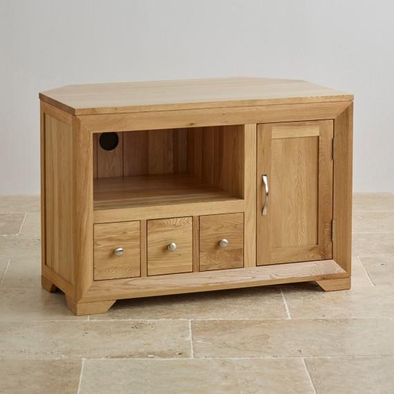 Corner & Widescreen Tv Cabinets | Oak Furniture Land With Best And Newest Oak Corner Tv Stands (Image 6 of 20)