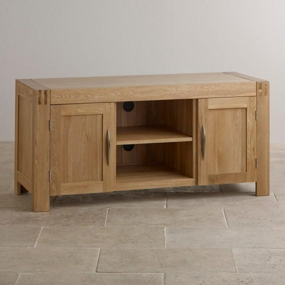Corner & Widescreen Tv Cabinets | Oak Furniture Land With Best And Newest Wide Screen Tv Stands (Image 11 of 20)