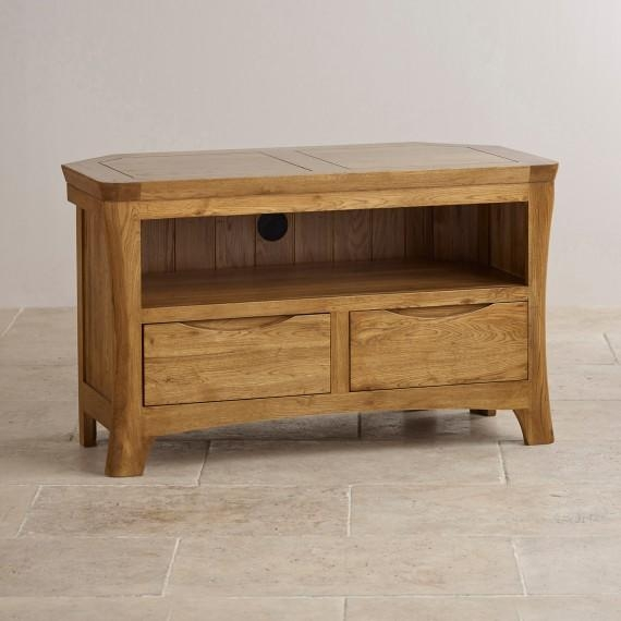 Corner & Widescreen Tv Cabinets | Oak Furniture Land With Latest Solid Oak Tv Stands (Image 7 of 20)