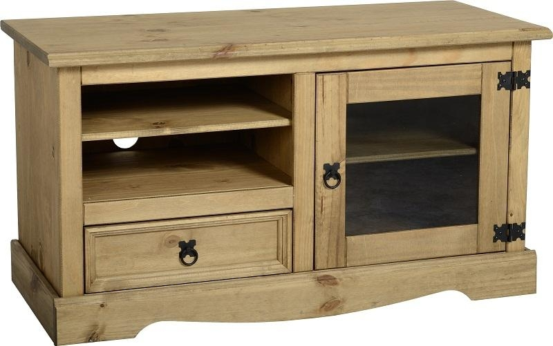 Corona Entertainment Unit – Waxed Pine Tv Unit – Flatpack2Go.co (View 12 of 20)