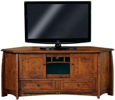 Coronado Solid Wood Corner Tv Stand – Countryside Amish Furniture Inside 2017 Solid Wood Corner Tv Cabinets (Image 8 of 20)