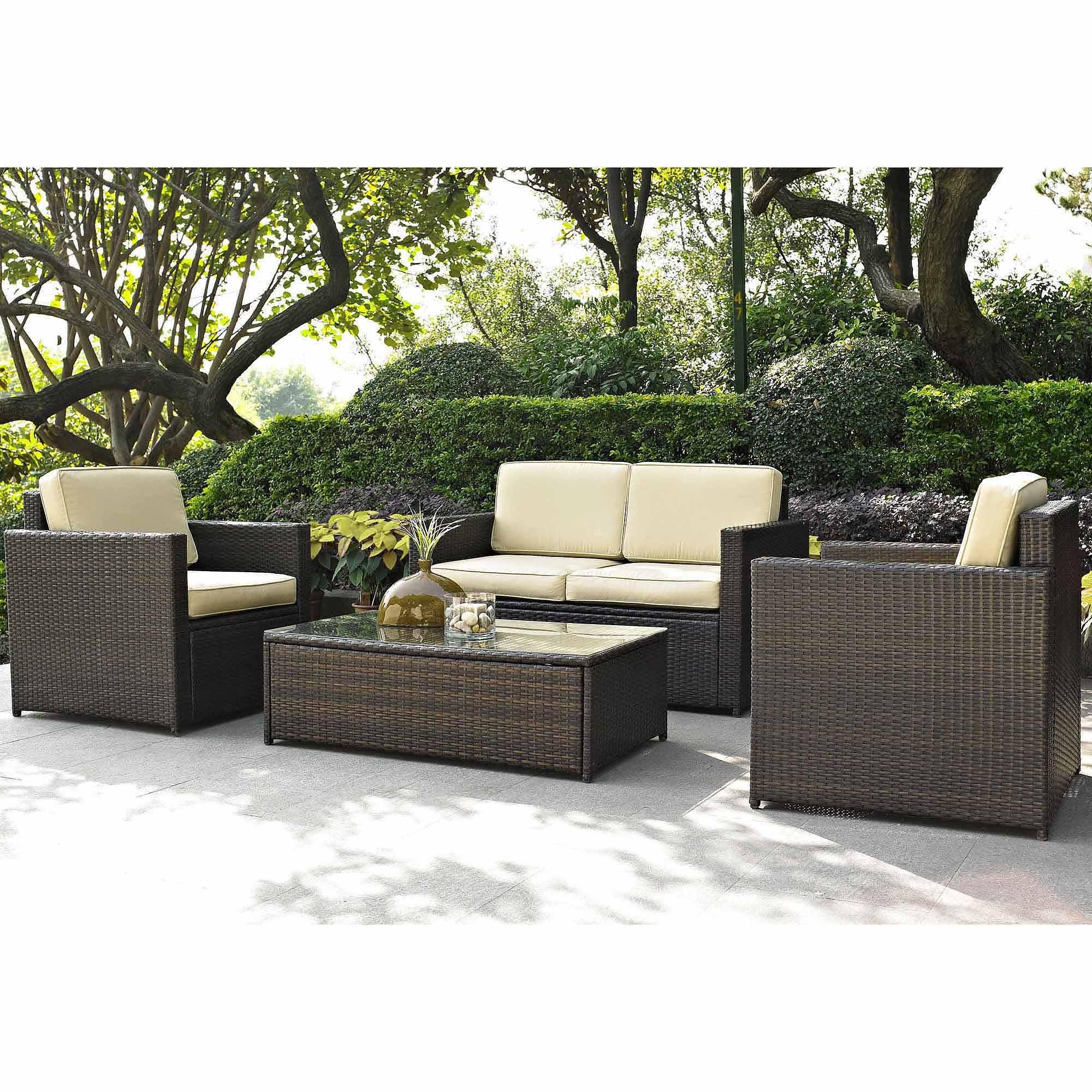 Costway 5Pc Outdoor Patio Sofa Set Sectional Furniture Pe Wicker For Cheap Patio Sofas (Image 4 of 22)