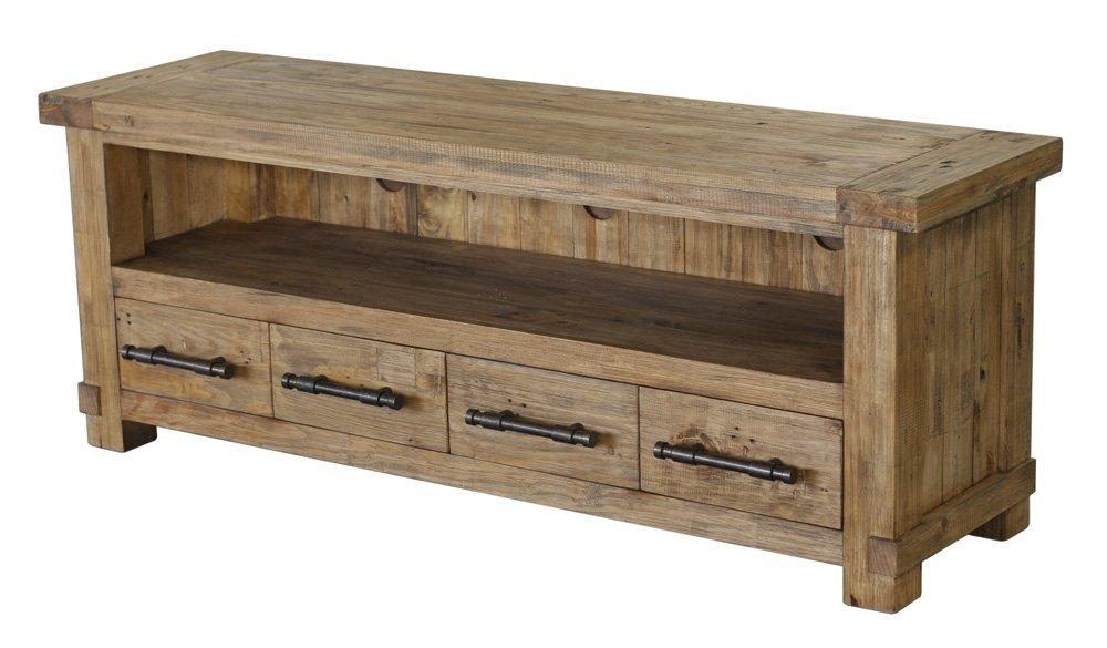 Country Reclaimed Solid Wood Farmhouse Tv Stand At Gowfb (Image 4 of 20)