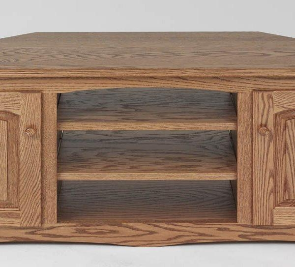 Country Style Solid Oak Corner Tv Stand W/cabinet – 64″ – The Oak Inside Most Popular Corner Oak Tv Stands (Image 6 of 20)