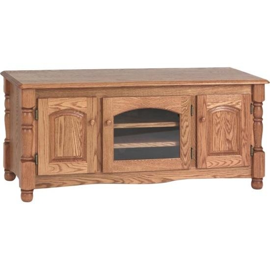 Country Trend Solid Oak Tv Stand – 51″ – The Oak Furniture Shop Intended For Most Popular Oak Tv Stands (Image 7 of 20)