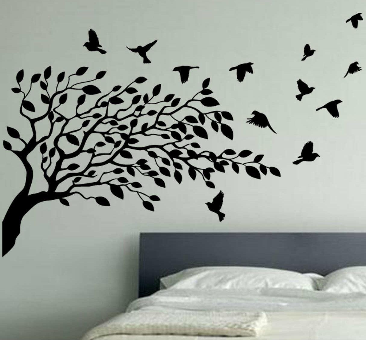 Cozy Dollar Tree Wall Art Stickers Under An Oak Willow Wall Ideas In Oak Tree Vinyl Wall Art (View 12 of 20)