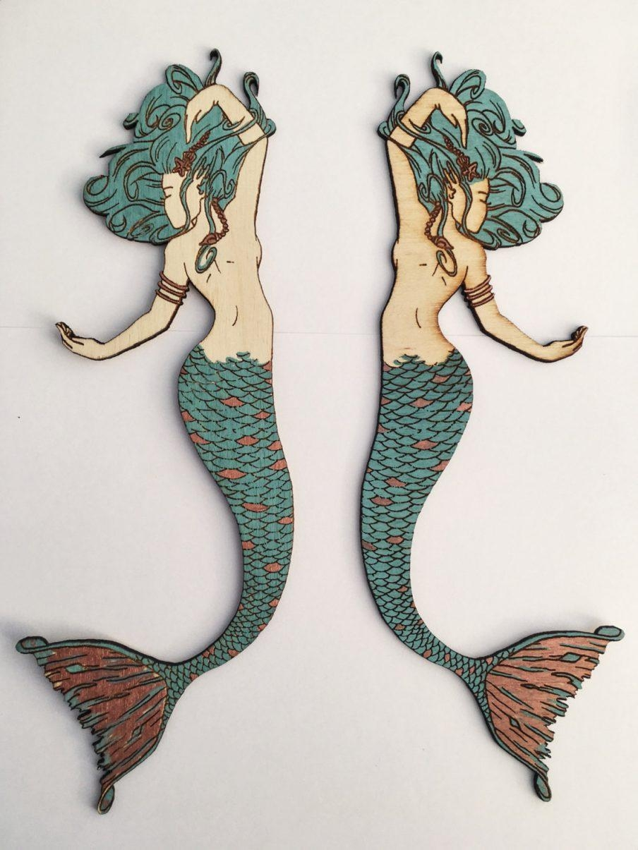 Wall Art Ideas: Wooden Mermaid Wall Art (Explore #20 Of 20 Photos)