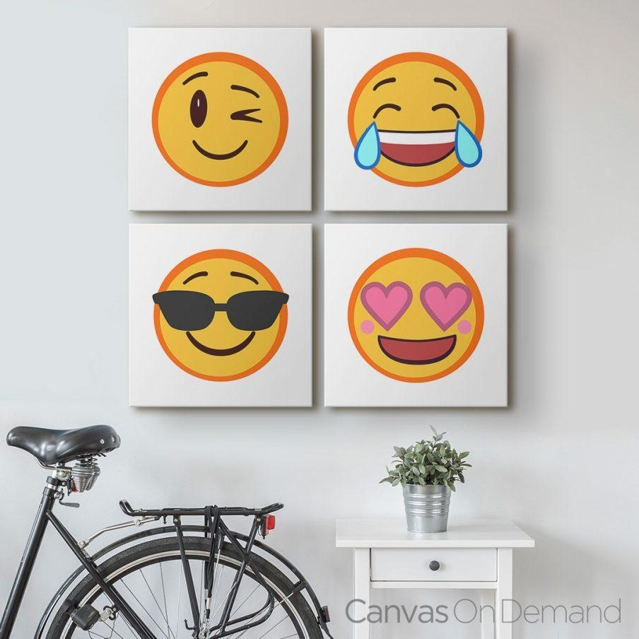 Cozy Wall Decor Emoji Wall Art Epic Emoji Wall Art Stickers Wall Pertaining To Emoji Wall Art (Image 8 of 20)