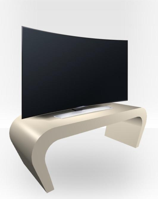 Cream Gloss Tv Stand – Wedge – Free Uk Delivery – Zespoke In Most Popular Gloss Tv Stands (Image 6 of 20)