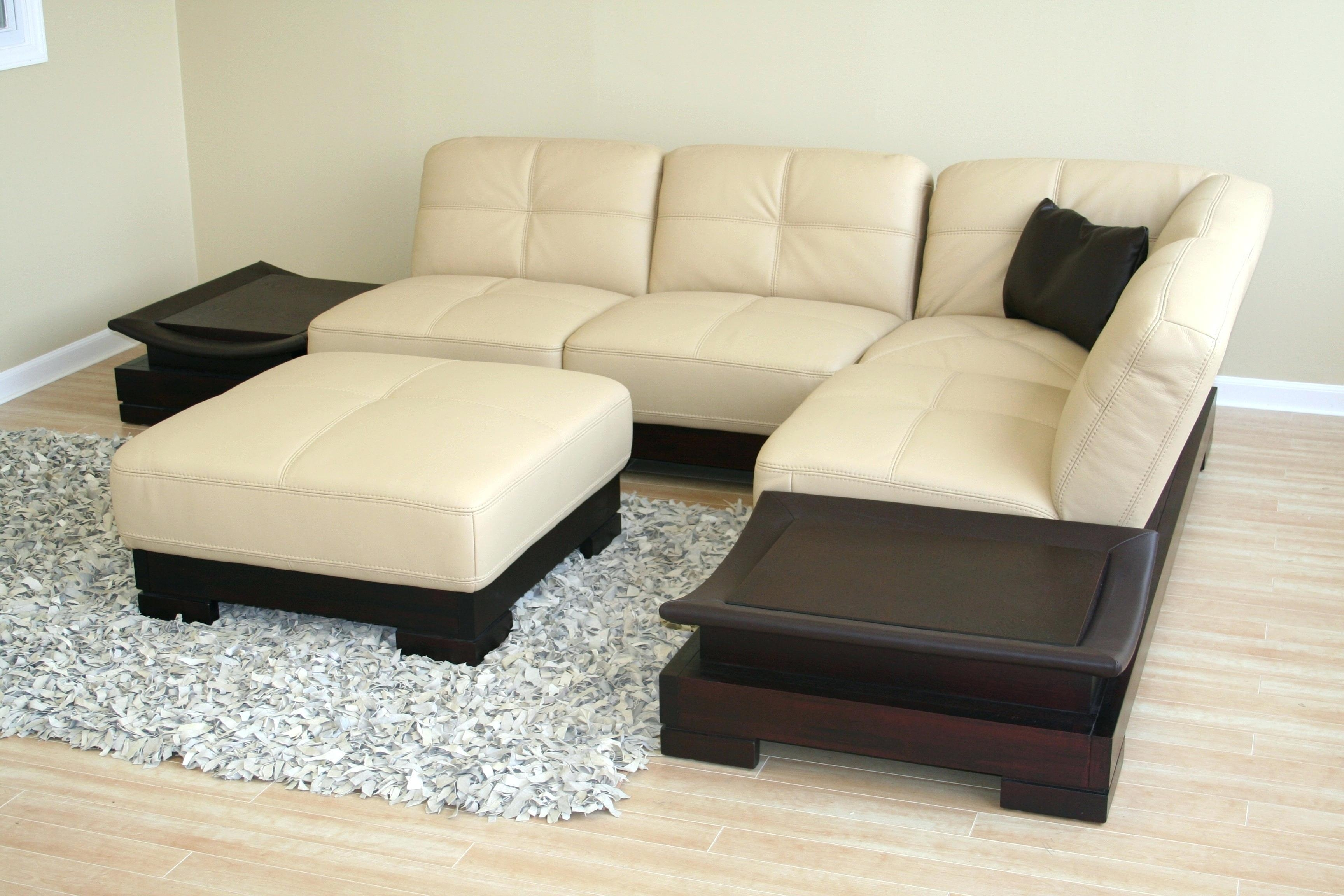 Cream Leather Couches Sale Sectional Sofa For Decorating Ideas Inside Cream Sectional Leather Sofas (Image 4 of 22)
