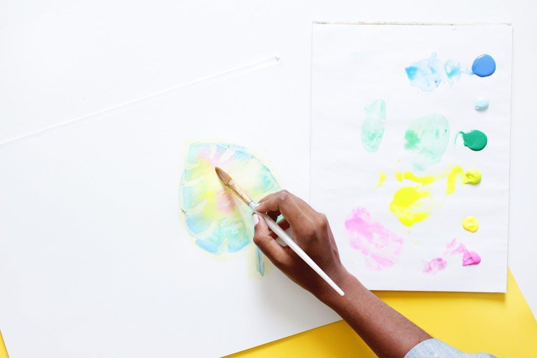 Create This Anthropologie Watercolor Wall Art For Half The Price For Diy Watercolor Wall Art (Image 4 of 20)