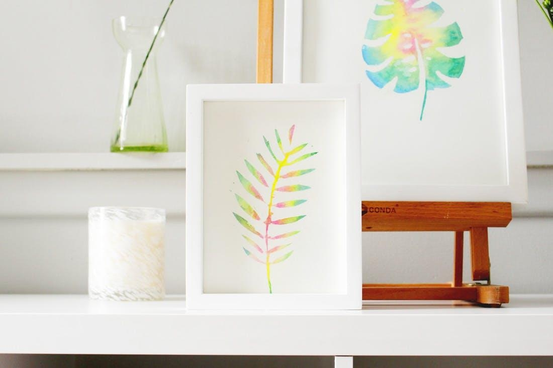 Create This Anthropologie Watercolor Wall Art For Half The Price Pertaining To Diy Watercolor Wall Art (Image 5 of 20)
