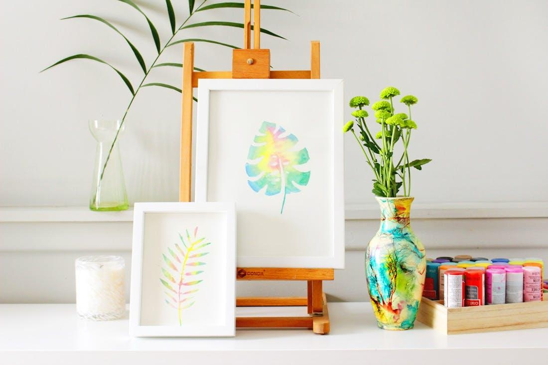 Create This Anthropologie Watercolor Wall Art For Half The Price With Regard To Diy Watercolor Wall Art (Image 6 of 20)
