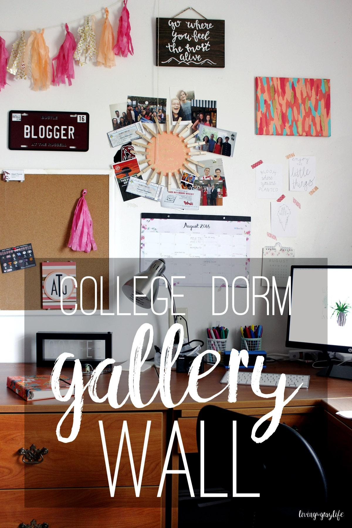 Creating A College Dorm Gallery Wall – Living The Gray Life In Wall Art For College Dorms (View 15 of 20)