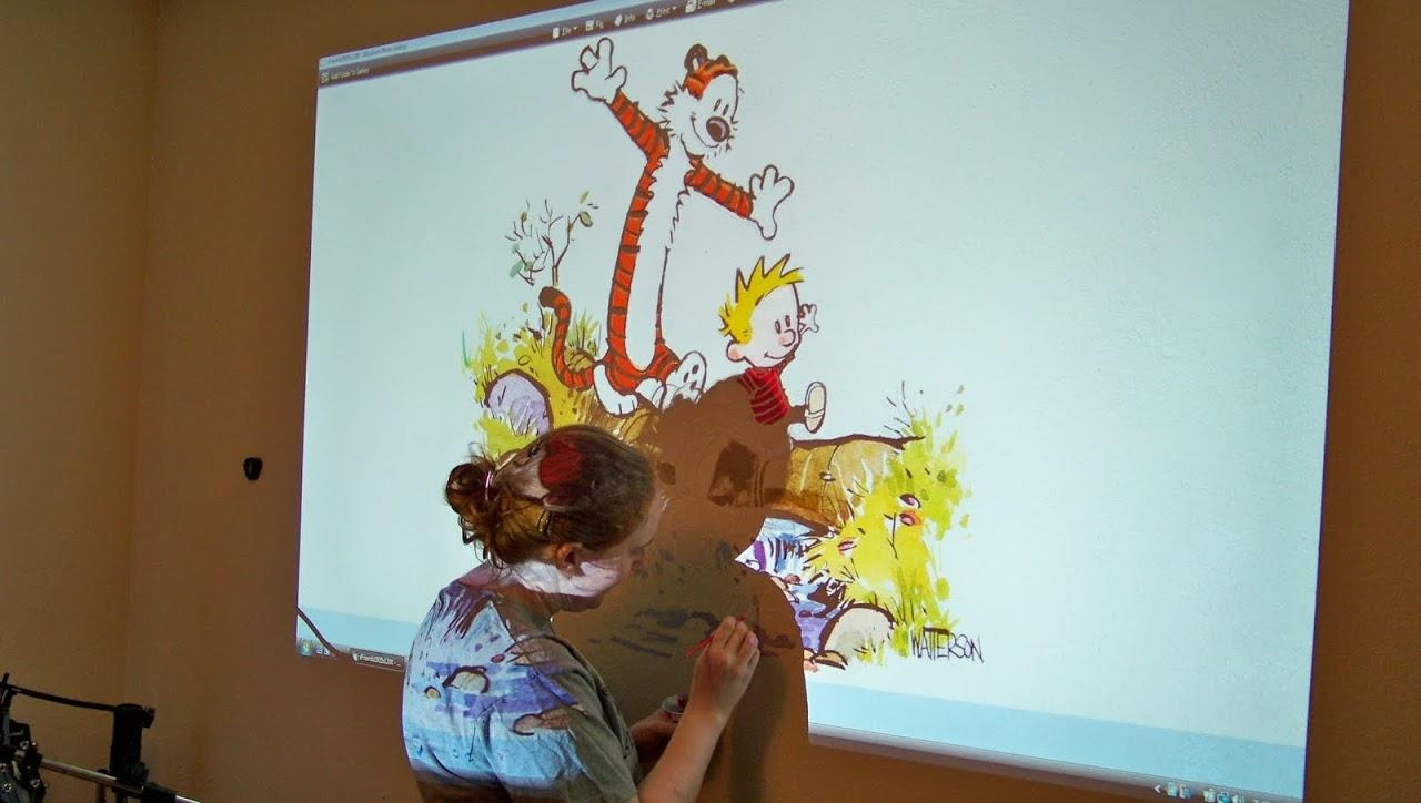20 choices of calvin and hobbes wall art wall art ideas for Calvin and hobbes nursery mural