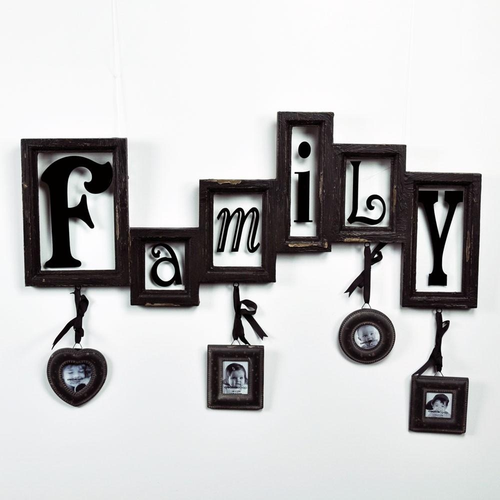 Creative Co Op Family Wall Plaque / Wall Art / Photo Frame In Family Wall Art Picture Frames (View 18 of 20)