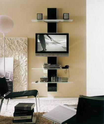 Creative Entertainment Centers | Tv Center, Mounted Tv And Wall Regarding Most Popular Bedroom Tv Shelves (View 12 of 20)
