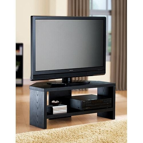 Creative Of Black Corner Tv Stand Small Black Corner Tv Stand Pertaining To Most Popular Small Black Tv Cabinets (Image 10 of 20)