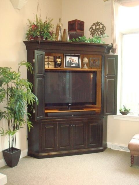 Creative Of Corner Tv Cabinet With Doors For Flat Screens 1000 Throughout Current Corner Tv Cabinets For Flat Screens With Doors (View 12 of 20)