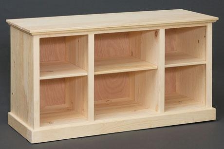 Creek View Unfinished Oak & Pine Furniture Regarding Recent Pine Wood Tv Stands (View 14 of 20)