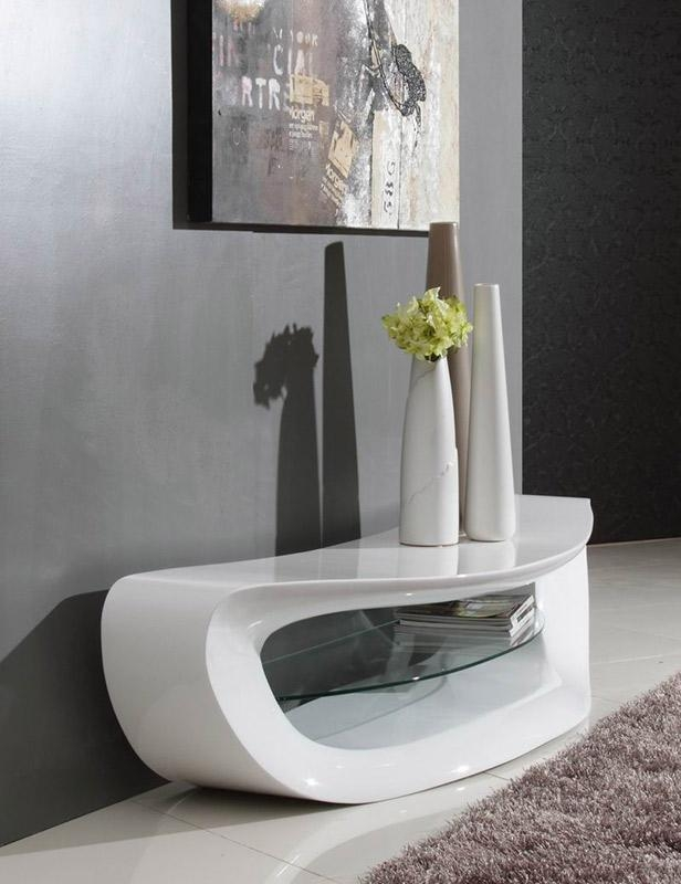 Crest – Contemporary White Tv Stand With Regard To Most Recent Modern White Lacquer Tv Stands (Image 3 of 20)