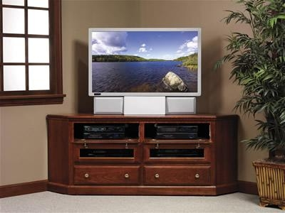 Crosley Furniture Cambridge 48 Inch Corner Tv Stand – Vintage Intended For Most Up To Date Mahogany Corner Tv Cabinets (Image 9 of 20)