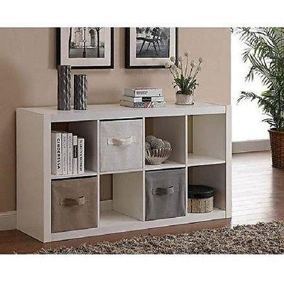Merveilleux Cube Bookcase Organizer Tv Stand Furniture 8 Shelves Storage Wood With  Recent Storage Tv Stands (