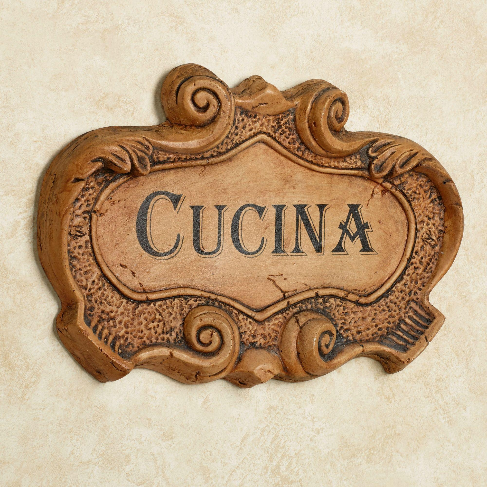 Cucina Italian Kitchen Wall Plaque Regarding Italian Wall Art For Kitchen (Image 5 of 20)