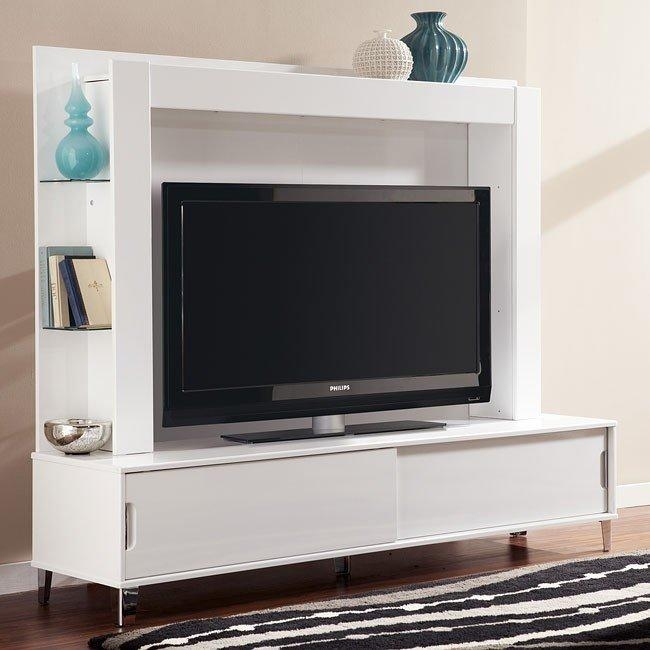 Culverden Extra Large Tv Stand W/ Back Panel Signature Design With Regard To Most Recent Tv Stands With Back Panel (Image 6 of 20)