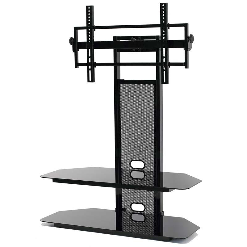 Currently Editing: Transdeco Black Glass Tv Stand With Integrated Pertaining To Recent 65 Inch Tv Stands With Integrated Mount (Image 6 of 20)