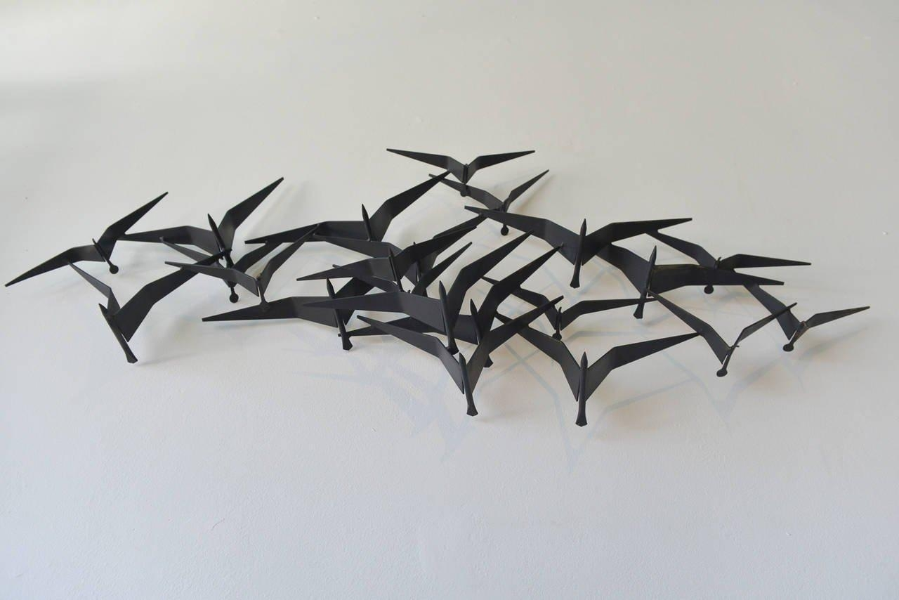 Curtis Jere Birds In Flight Metal Wall Sculpture At 1Stdibs Pertaining To C Jere Wall Art (Image 9 of 20)