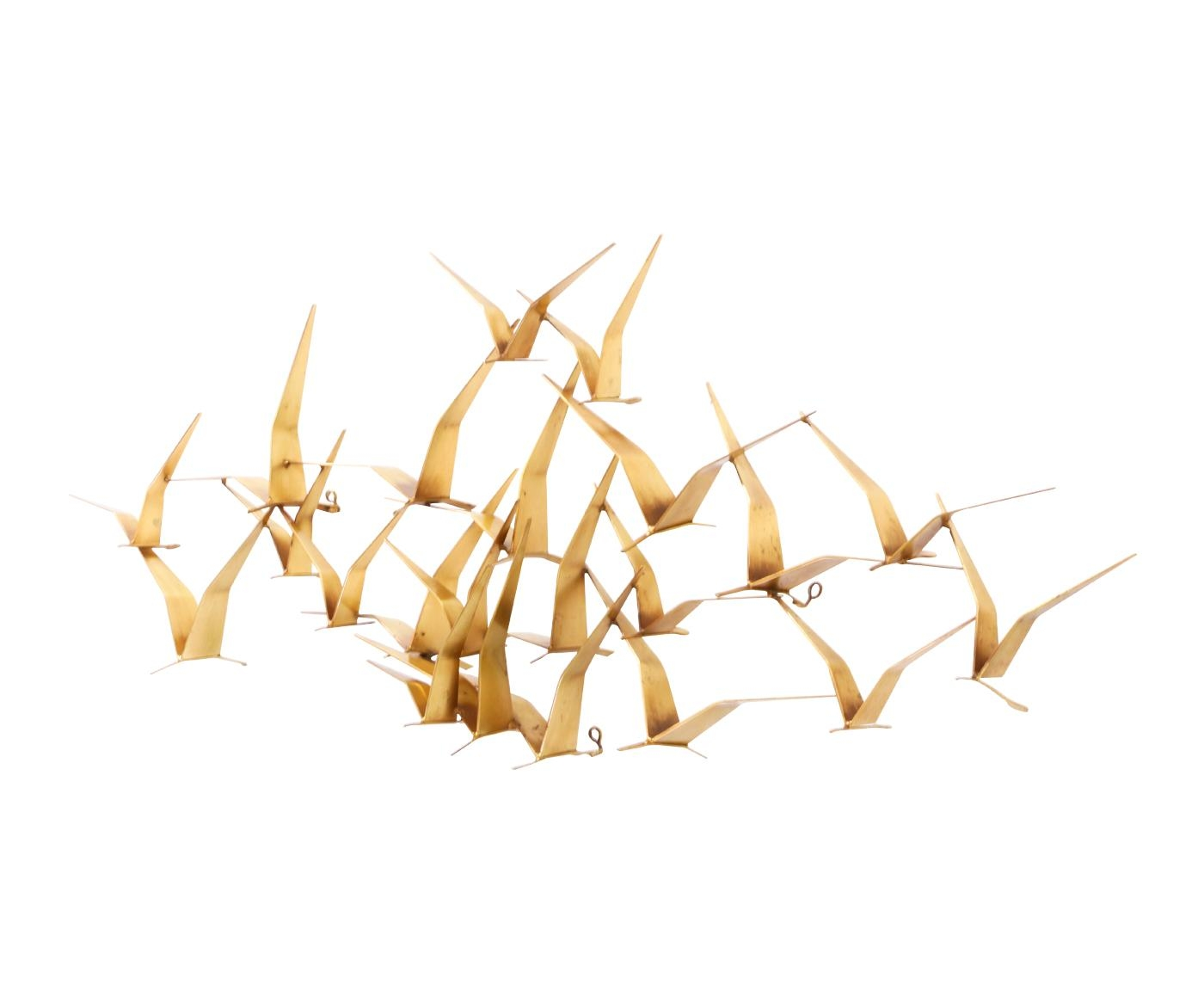 "Curtis Jere ""Birds In Flight"" Wall Art Sculpture For Artisan House Pertaining To C Jere Wall Art (Image 6 of 20)"