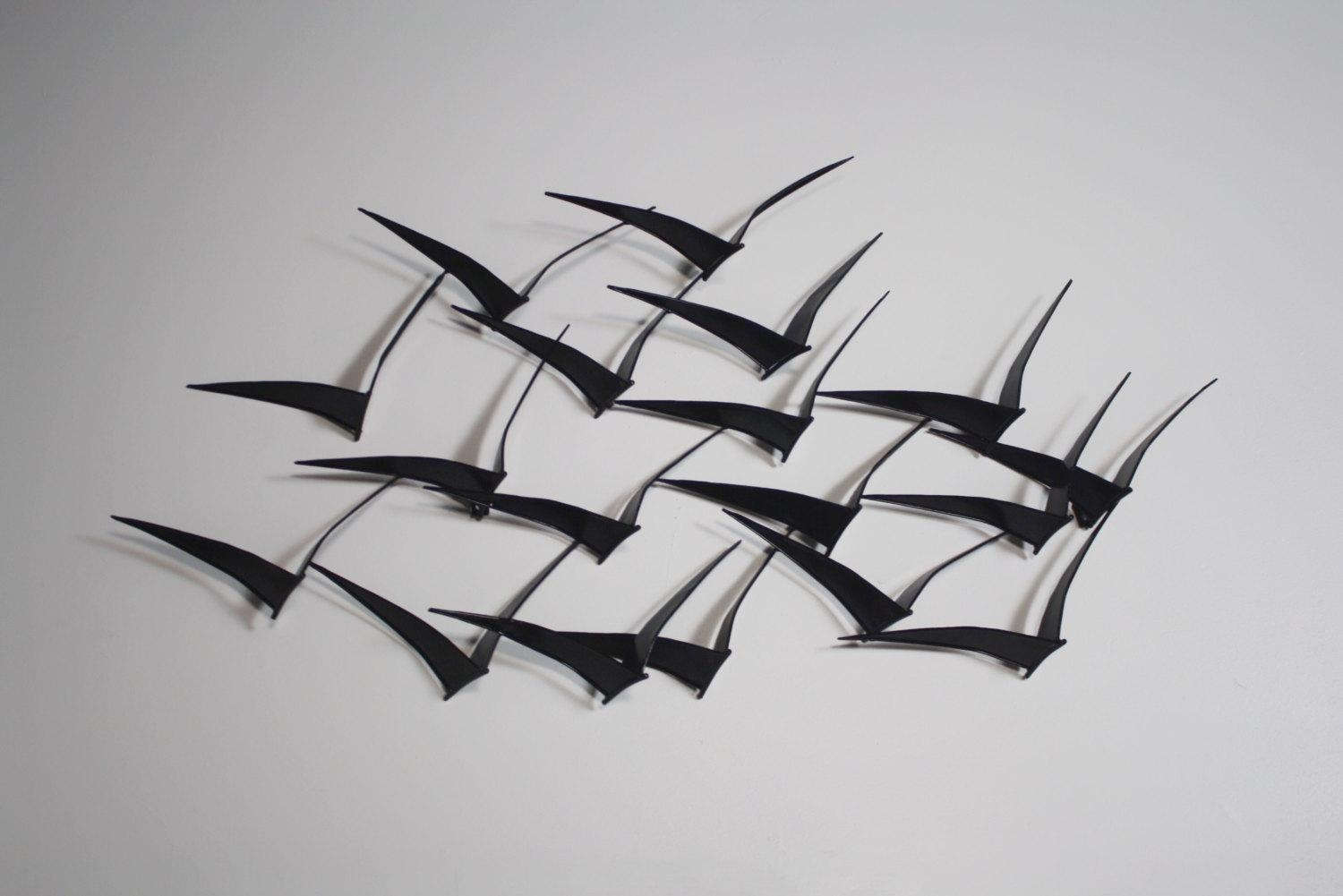 "Curtis Jere ""Birds In Flight"" Wall Art Sculpture Metalwork For Pertaining To C Jere Wall Art (Image 7 of 20)"
