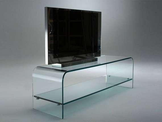Curved Glass Tv Stand Tango Within Best And Newest Glass Tv Stands (Image 8 of 20)