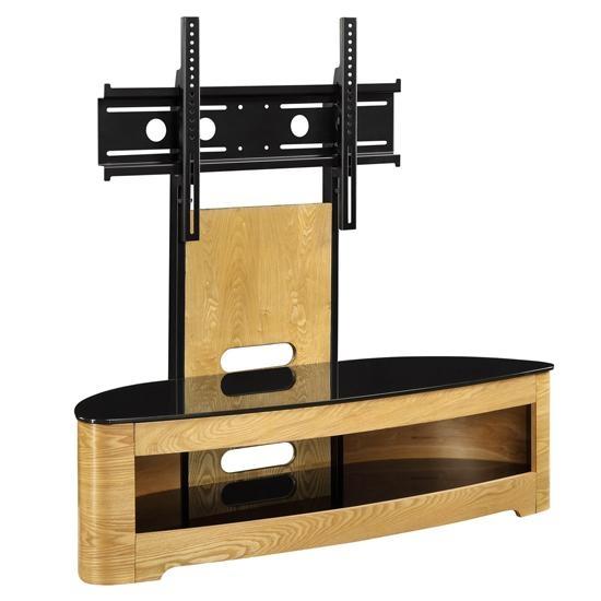 Curved Wooden Oak Veneer Lcd/plasma Cantilever Tv In Latest Oak Veneer Tv Stands (Image 10 of 20)