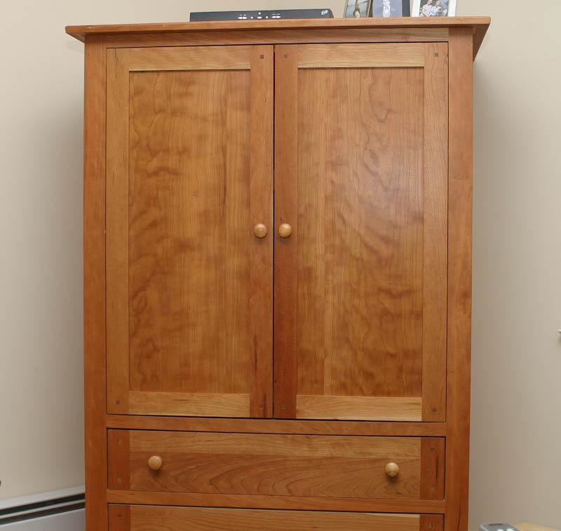 Custom Built Cherry Tv Cabinet | Possible Armoire Cabinet Use With Regard To Most Popular Cherry Tv Armoire (Image 11 of 20)