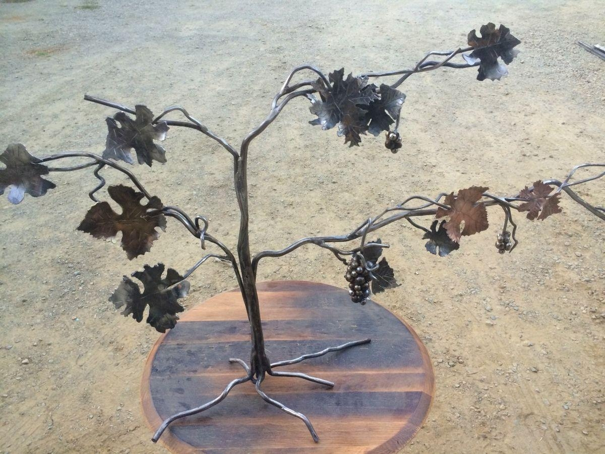 Custom Copper, Steel, Brass Forged Grapevine Sculpturenapa Regarding Grape Vine Metal Wall Art (View 14 of 20)