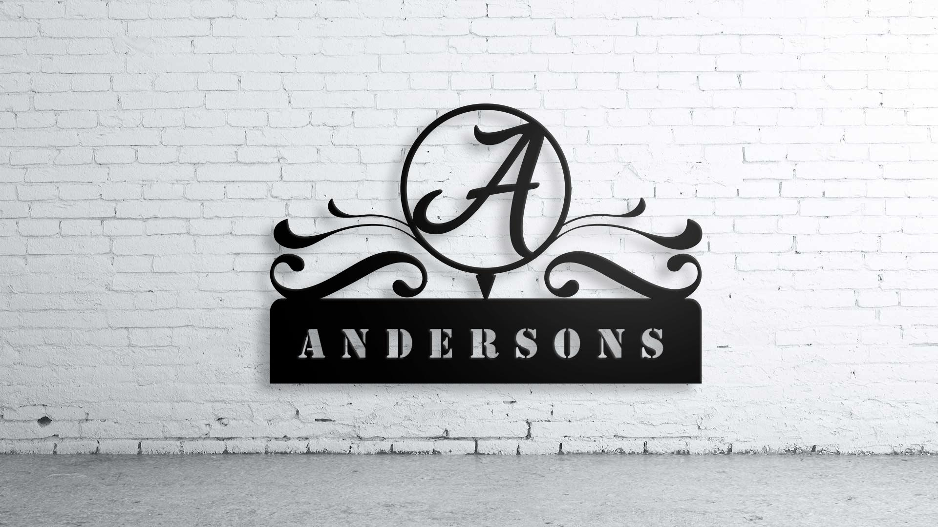 Custom Family Name, Wall Art,custom Sign, Family Name, Aluminum For Custom Last Name Wall Art (Image 5 of 20)