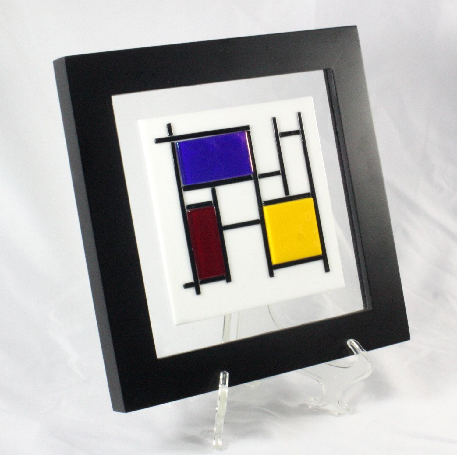 Custom Fused Glass Sculptures For Your Wall With Regard To Purple Fused Glass Wall Art (Image 10 of 20)