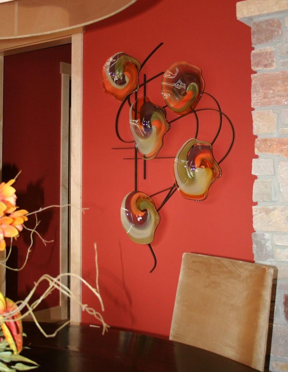 Custom Made Blown Glass And Metal Wall Artbonnie M (Image 8 of 20)