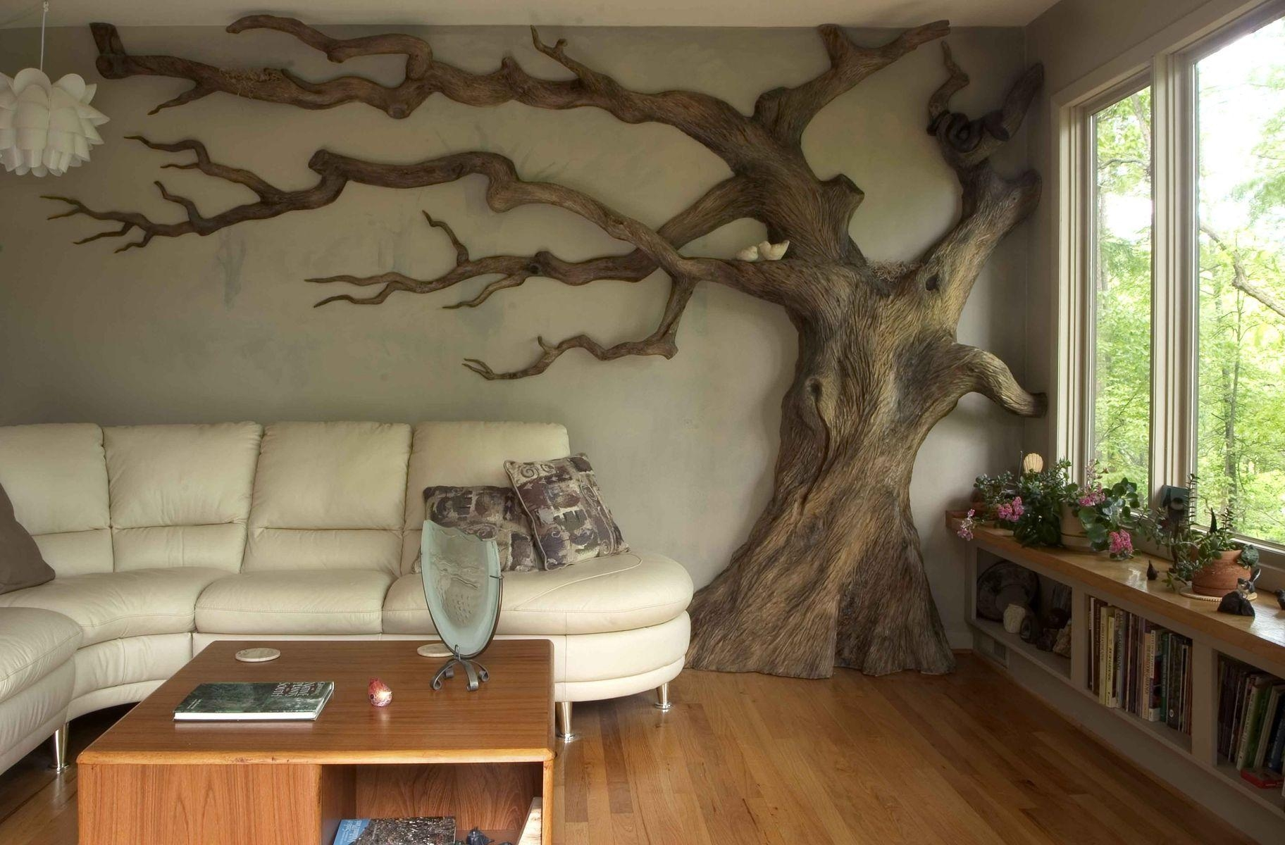Custom Made Carved Wall Art/sculpturechrysalis Woodworks Within Live Oak Tree Wall Art (Image 9 of 20)