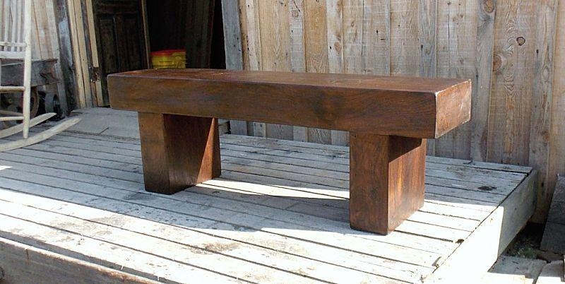 Custom Massive Walnut Timber Bench/coffee Table/tv Standpaul's For Most Recent Bench Tv Stands (Image 12 of 20)