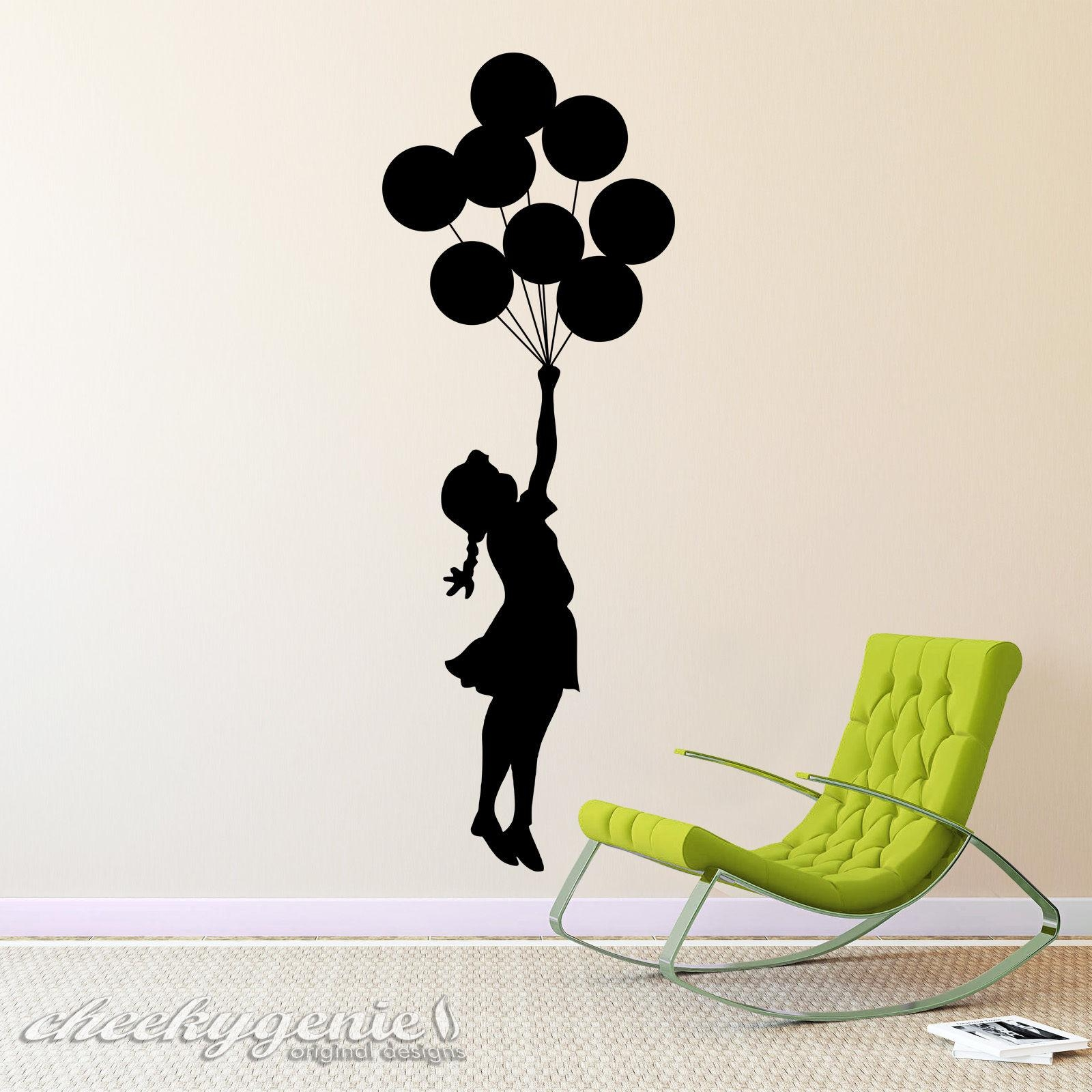D294 Banksy Street Art Floating Balloon Girl (Image 6 of 20)