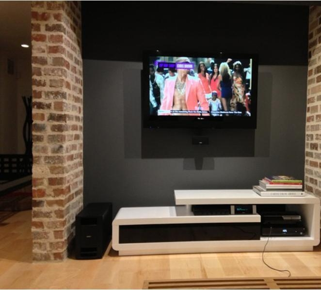 D3033 Modern White Lacquer Tv Stand Pertaining To Latest Modern White Lacquer Tv Stands (Image 4 of 20)